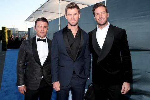 Luke Hemsworth, Chris Hemsworth, and Armie Hammer