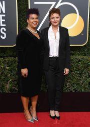 Rosa Clemente and Susan Sarandon