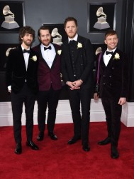 Wayne Sermon, Daniel Platzman, Dan Reynolds, and Ben McKee of Imagine Dragons