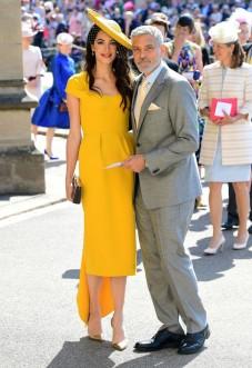 Amal & George Clooney Prince Harry Meghan Markle Royal Wedding