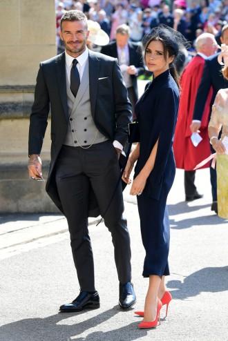 David & Victoria Beckham Prince Harry Meghan Markle Royal Wedding