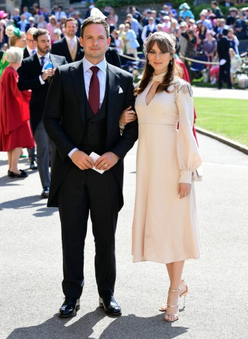 Patrick J. Adams and Troian Bellasario Prince Harry Meghan Markle Royal Wedding