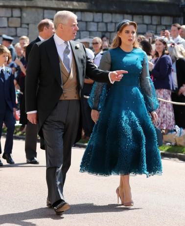 Prince Andrew and Princess Beatrice Prince Harry Meghan Markle Royal Wedding