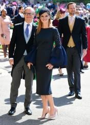 Sarah Rafferty and guest Prince Harry Meghan Markle Royal Wedding