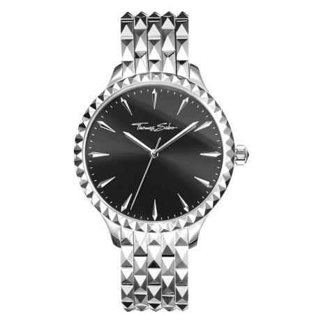 Rebel At Heart Pyramid Watch Silver Black, Thomas Sabo, €398 http://bit.ly/2z2LhPM