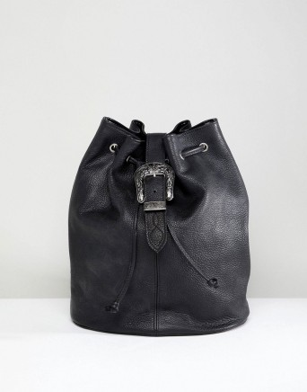 ASOS Park Lane Real Leather Western Buckle Backpack, €55.30