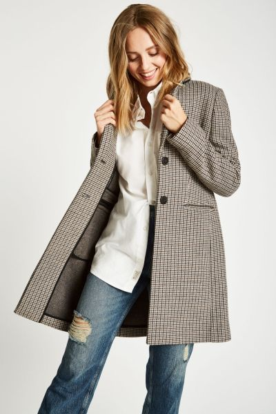 Jack Wills Chelsea Checked Overcoat, €239
