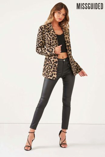 Missguided Leopard Print Blazer, €40