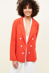 New Look Cameo Rose Red Double Breasted Blazer, €24.99