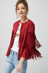 Next Suedette Fringed Jacket, €75