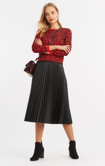 Oasis Faux Leather Midi Skirt, €63 http://bit.ly/2vBlyK0