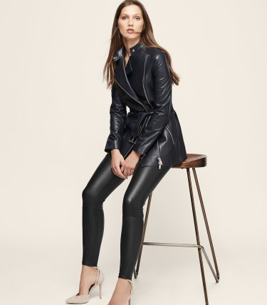 Reiss Rene Leather Belted Jacket, €1035