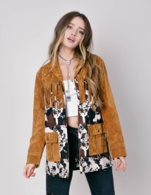 ASOS Sacred Hawk Faux Suede and Cowboy Jacket, €103.69