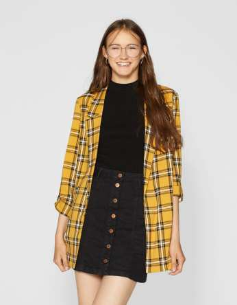 Stradivarius Checked Flowing Blazer, €25.99