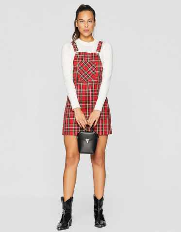 Stradivarius Checked Pinafore Dress, €19.99