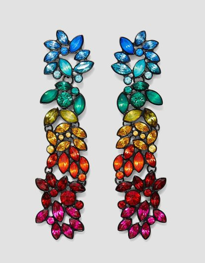 Stradivarius Long Rainbow Earrings, €12.99