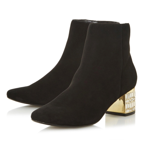Dune London Onaa Embellished Heel Ankle Boots, €165 http://bit.ly/2r5Fhia