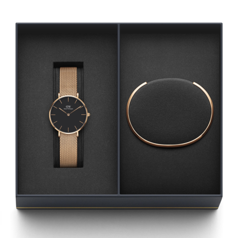 Daniel Wellington, Rose Gold Melrose and Cuff Gift Set, €179