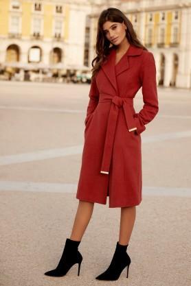 Lipsy Rust Wrap Coat, €98 http://bit.ly/2Kc71KM