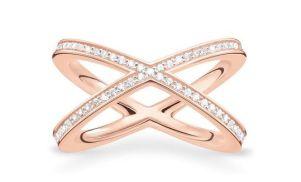 Thomas Sabo, Glam & Soul Rosegold Pavé X Ring, €179
