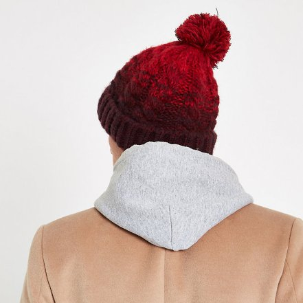 River Island Red Cable Knit Bobble Beanie Hat, €9 (€17) http://bit.ly/2GndJ2n
