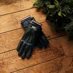Ted Baker Conver Ribbed Cuff Leather Gloves, €105 http://bit.ly/2PMhaPL