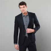 Magee 1866 Navy Salt & Pepper Handwoven Donegal Tweed Tailored Fit Jacket, €475 http://bit.ly/2Ek8e2L
