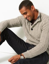 Marks & Spencer Cable Knit Jumper with Wool, €60 http://bit.ly/2BZYtEA