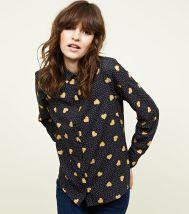 New Look Black Heart Spot Print Shirt, €19.99 http://bit.ly/2AWQjLt