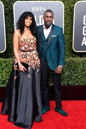 Sabrina Dhowr and Idris Elba