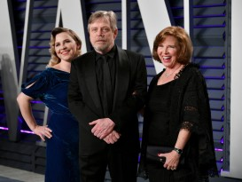 Chelsea Hamill, Mark Hamill, and Marilou York