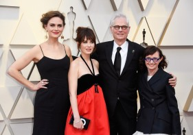 Emily, Zooey, Caleb and Mary Jo Deschanel