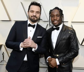 Jake Johnson and Shameik Moore