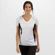 Regatta Women's Beijing Lightweight Cool And Dry T-Shirt White/Navy, €8.95 http://bit.ly/2TgOF3a