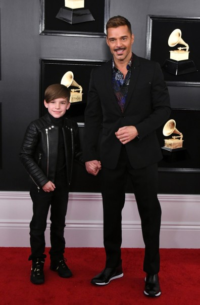 Ricky Martin and his son