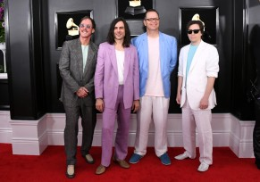 Scott Shriner, Brian Bell, Patrick Wilson, and Rivers Cuomo of Weezer