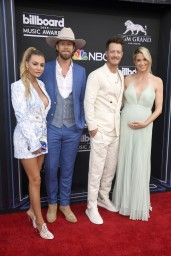 Brittney Marie Cole Kelley, Brian Kelley and Tyler Hubbard of Florida Georgia Line, and Hayley Stommel Hubbard