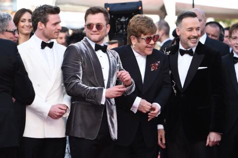Richard Madden, Taron Egerton, Sir Elton John and David Furnish