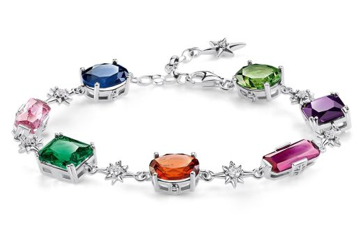 Thomas Sabo Magic Stones Colourful Stones with Silver Stars Bracelet