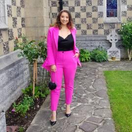 Killer Fashion Nirina Pink Suit Wedding Thomas Sabo 5