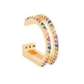 Astrid & Miyu Rainbow Wishbone Ear Cuff, €46 http://bit.ly/2KPbS6q