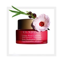 Clarins Super Restorative Rose Radiance Cream, €91 http://bit.ly/2XqledB
