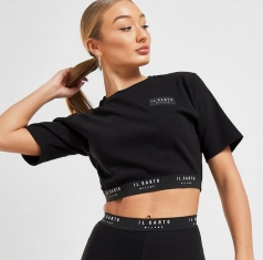 Il Sarto Logo Ribbed Crop T-Shirt, €28 http://bit.ly/2rm470S