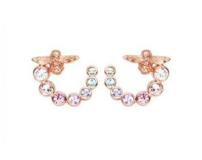 Olivia Burton Rose Gold Tone Rainbow Bee Curl Stud Earrings, €59 http://bit.ly/2shq7uc