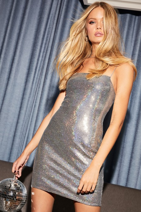 Topshop Holographic Mini Bodycon Dress, €22 http://bit.ly/2qFhE3m