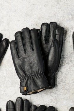 Next Black Borg Lined Leather Gloves, €35 http://bit.ly/2LUF7Fh