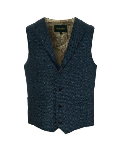 Dorian Black Celtic Tweeds WB Yeats Blue Tweed Waistcoat, €149.99 http://bit.ly/2rt41ok