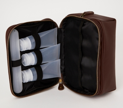 Dunnes Stores Leather Travel Wash Bag, €15 http://bit.ly/2qPX7cM