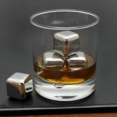 Epicurean Set of 4 Stainless Steel Whiskey Stones, €16.95 http://bit.ly/2YKIWSy