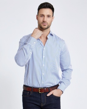 Paul Costelloe Living Yarn Dye Regular Fit Sateen Stripe Shirt, €45 http://bit.ly/33FDWje